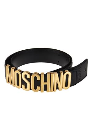 Logo lettering buckle leather belt MOSCHINO | 22 | 80078001A0555