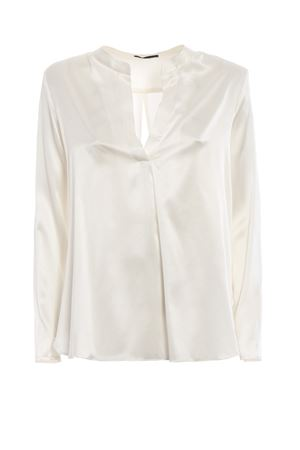 White stretch silk satin blouse PAOLO FIORILLO CAPRI | 6 | 03422094901