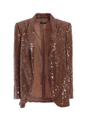 Bronze sequined shawl collar blazer PAOLO FIORILLO CAPRI | 3 | 1437PA2816BRONZO