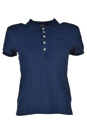 Polo slim fit in cotone blu POLO RALPH LAUREN | 2 | 211505654102
