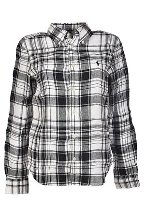 Black check pattern linen shirt POLO RALPH LAUREN | 6 | 211697464001