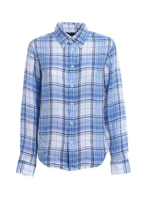 Blue check pattern linen shirt POLO RALPH LAUREN | 6 | 211697464003
