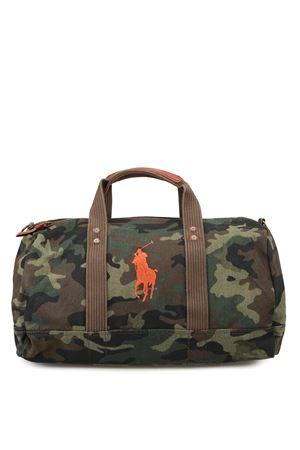 Borsone camouflage con logo arancio POLO RALPH LAUREN | 5032259 | 405688140001