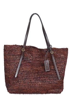 Shopper grande in rafia marrone POLO RALPH LAUREN | 5032266 | 428688277001