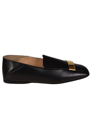 sr1 napa leather black flat shoes SERGIO ROSSI | 5032263 | A77990MNAN071000
