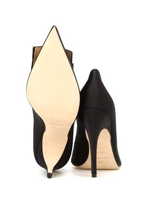 Logo plaque satin pumps SERGIO ROSSI | 5032240 | A80441MTEZ021000