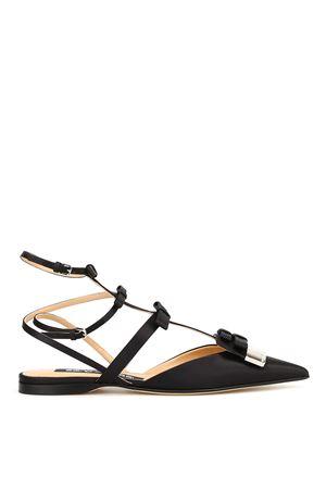 Sandali in raso con placca logo SERGIO ROSSI | 5032241 | A81170MTEZ021000