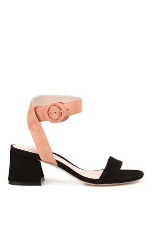 Salana two-tone suede sandals STUART WEITZMAN | 5032241 | SALANABLACK