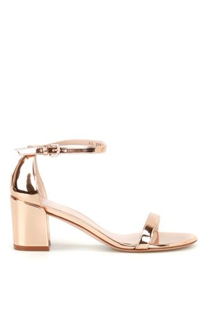 Simple gold-tone patent sandals STUART WEITZMAN | 5032241 | SIMPLEBEIGE