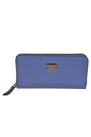 Leather continental wallet TOD