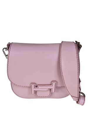 Double T pink leather saddle bag TOD