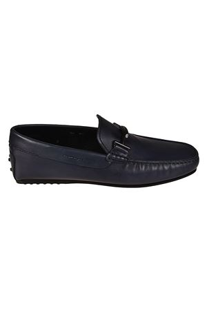 Double T blue leather loafers TOD