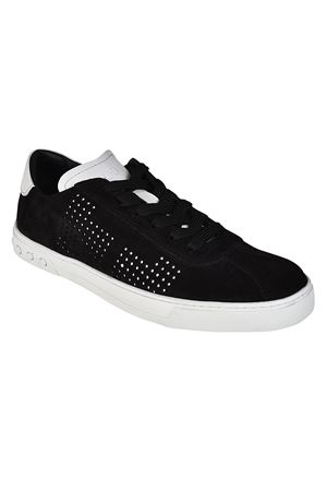 Black suede drilled logo sneakers TOD