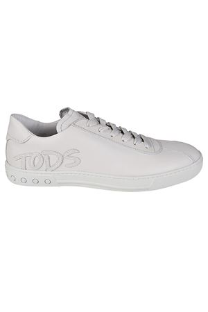 Leather logo patch sneakers