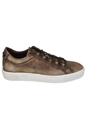 Sneaker in pelle effetto consumato TOD