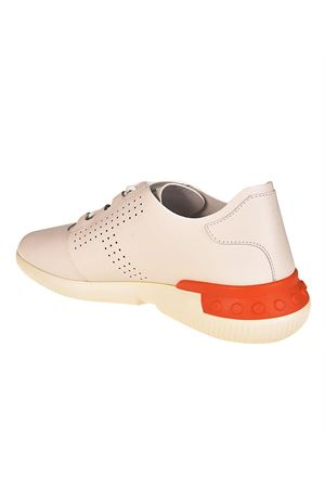 White smooth leather sneakers TOD