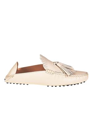 Slipper in pelle bianca con nappine XXW00G0X070NB5B001 TOD