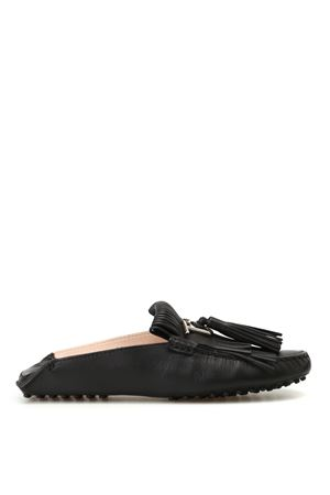 Gommino black leather slippers TOD