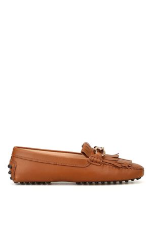 Hammered leather Heaven loafers TOD