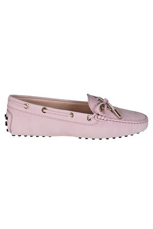 Gommino logo pink leather loafers TOD