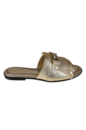 Double T fringed leather sandals TOD
