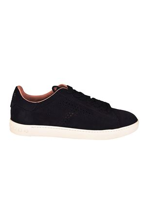 Drilled T suede sneakers