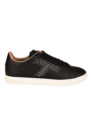 Silver stud logo leather sneakers TOD