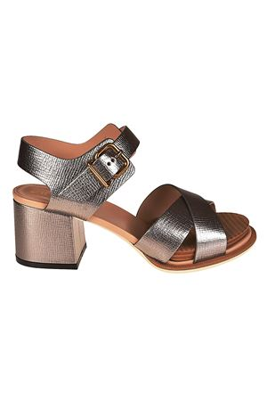 Crackle leather heeled sandals TOD
