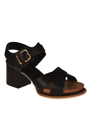 Smooth leather heeled sandals TOD