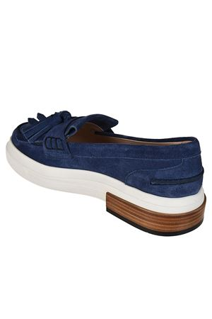 Blue suede sporty loafers TOD