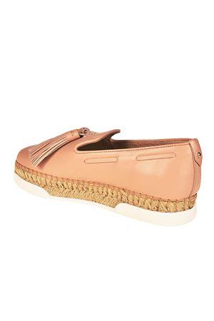 Light pink leather tassel slip-ons TOD