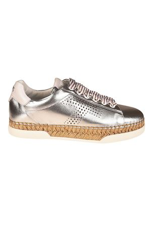 Perforated T silver sneakers TOD
