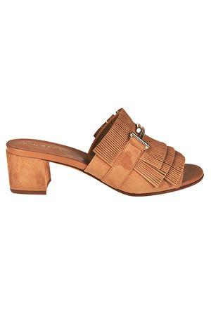 Salida En Línea Barato Zapatos Muy Baratos En Línea Sandali con frangette e doppia T paolo-fiorillo-boutiques neri Pelle Envío Libre Confiable YKpZy02ee