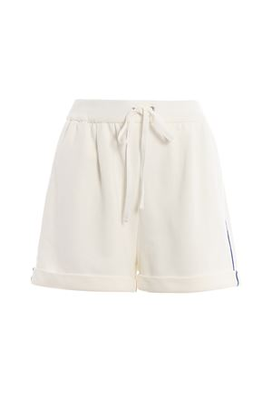 White cotton fleece short pants J032716762