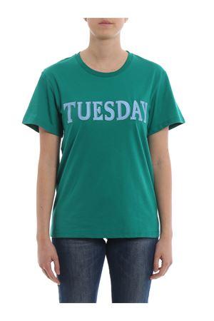 Rainbow Week Tuesday bright green T-shirt J07081672370 ALBERTA FERRETTI   8   J07081672370
