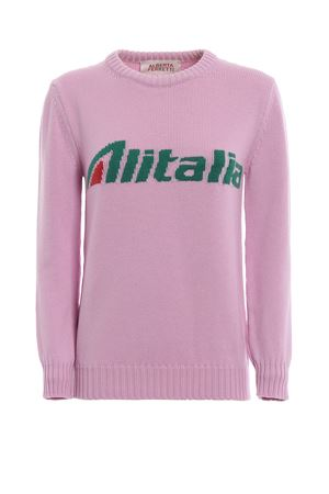Pullover rosa con intarsio logo Alitalia J098116131222 ALBERTA FERRETTI | 7 | J098116131222