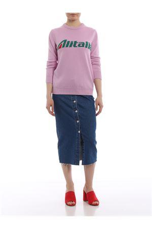 Alitalia logo intarsia pink wool sweater J098116131222 ALBERTA FERRETTI | 7 | J098116131222