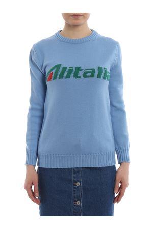 Alitalia logo intarsia blue wool sweater J098116131294 ALBERTA FERRETTI | 7 | J098116131294