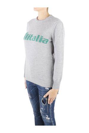 Felpa grigia con logo Alitalia ricamato J098116131504 ALBERTA FERRETTI | 7 | J098116131504