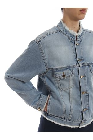 Unfinished hem cotton denim jacket ALEXANDRE VAUTHIER | 13 | 192JA8130318SKY