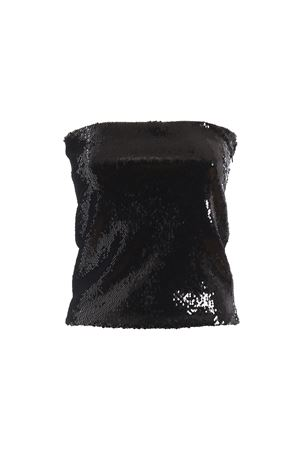 Black sequined mini skirt 192TO105901921050BLACK