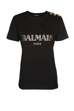 Balmain black cotton jersey T-shirt BALMAIN | 8 | RF11077I042EAD