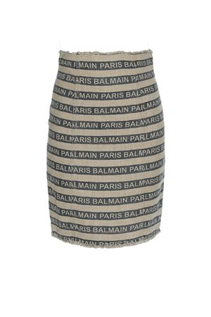 Striped bicolour linen skirt RF14288D020GAY