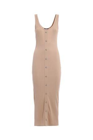 Rib knit cotton blend tank top maxi dress BALMAIN | 11 | RF16408C0670KJ