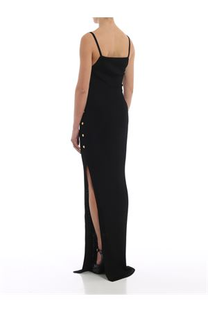 Ribbed viscose jersey long slip dress 