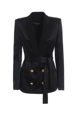 Shawl collar satin double-breasted blazer BALMAIN | 3 | RF17207207D0PA