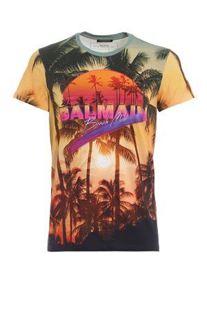 Beach Club print T-shirt BALMAIN | 8 | RH11601I026AAA