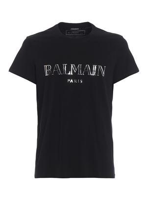 Balmain print black slim T-shirt  BALMAIN | 8 | RH11601I055OPA