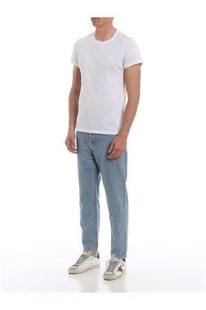 T-shirt slim bianca con stampa Balmain RH11601I058OFA BALMAIN | 8 | RH11601I058OFA