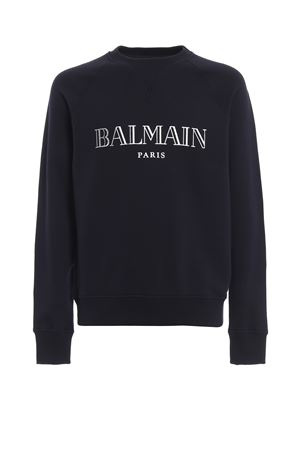 Balmain logo print cotton sweatshirt BALMAIN | 7 | RH11679I0516UB
